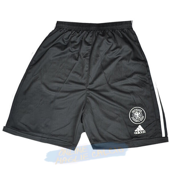 Home Pantaloni Germania Retro 2002 Nero Tute Squadre Calcio