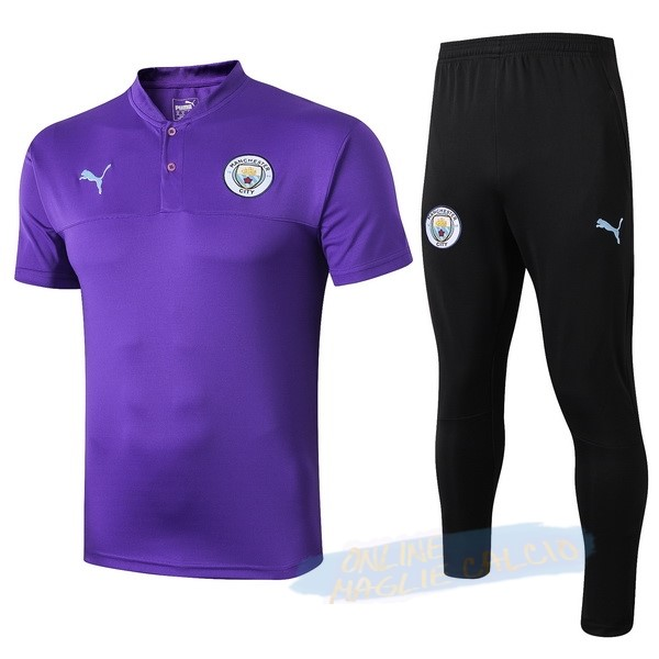 Set Completo Polo Manchester City 2019 2020 Purpureo Tute Squadre Calcio