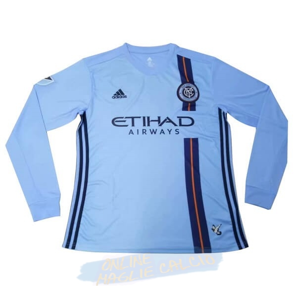 Home Manica lunga New YOrok City 2019 2020 Blu Tute Squadre Calcio