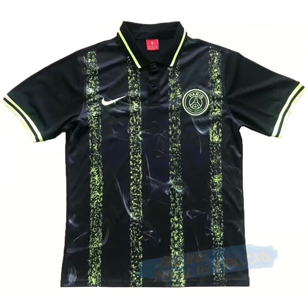 Polo Paris Saint Germain 2019 2020 Nero Verde Tute Squadre Calcio