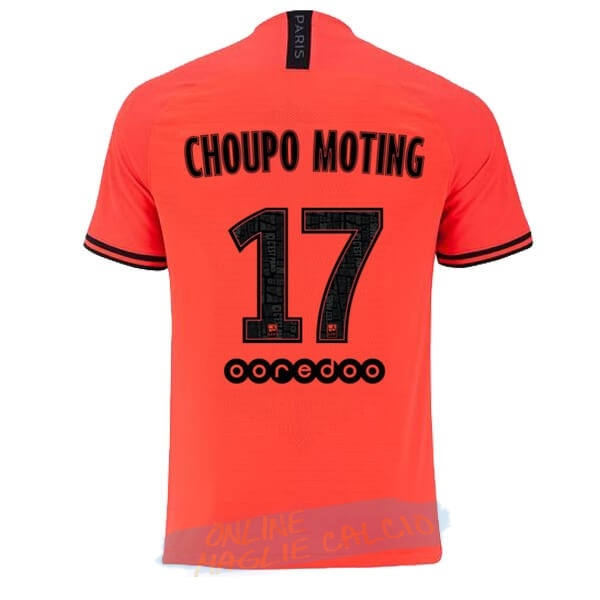 NO.17 Choupo Moting Away Maglia Paris Saint Germain 2019 2020 Oroange Tute Squadre Calcio