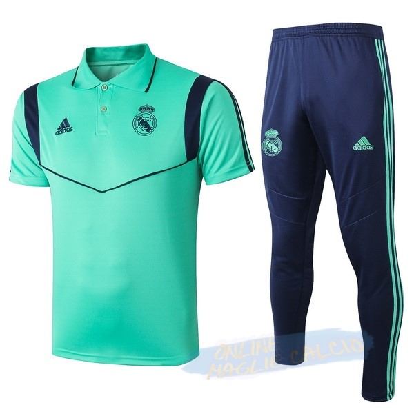Set Completo Polo Real Madrid 2019 2020 Verde Blu Tute Squadre Calcio